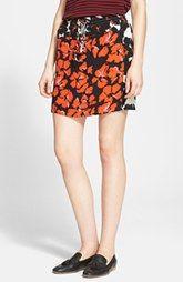A.L.C. 'Nicholson' Floral Print Silk Skirt