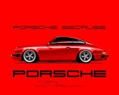 Vintage Porsche inspired Modern Artwork & Design