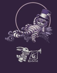 Alice in Wonderland - Cheshire cat - Nite Owl Ink Cheshire Cat Art, Chesire Cat, Cheshire Cat Tim Burton, Alice And Wonderland Quotes, Adventures In Wonderland, Monsters In My Head, Wonderland Tattoo, Alice Madness, Mad Hatter Tea