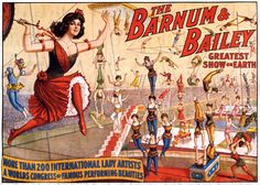 Wonderful antique circus poster with daring ladies of circus doing all sorts of amazing things!   Perfect for altered art, scrapbooking,