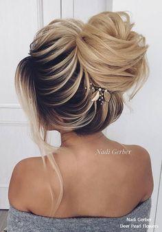 Nadi Gerber Long Wedding Hairstyles and Updos for Bride #weddings #hairstyles #weddinghairstyles #fashion #weddingideas