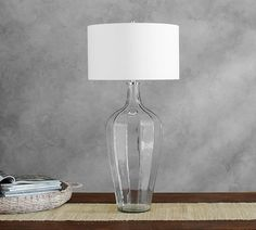 Pottery Barn Victoria Faceted Glass Console Lamp
