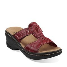 Lexi Empress in Red Leather - Womens Sandals from Clarks