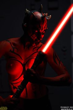 Dark Force -  Darth Maul Star Wars Horrify Me, horror photography and portraits of rotting zombies, evil vampires, demonic demons, dark erotic beauty and boudoir, hanged victims, human autopsy, gross blood and gory concepts, horror icons and much more. www.horrify.me.uk