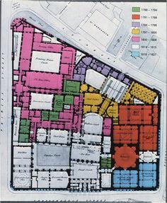 Bank of England (begun in London by John Soane Bank Of England, Historic Architecture, Fantasy Castle, Jane Austen, Naples, Facade, Buildings, Cool Designs, Floor Plans