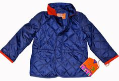 Navy + Orange =  Classic Kids Barn Coat from @magnamini