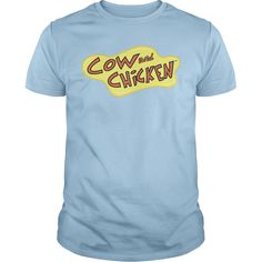 Cow And Chicken Logo T-Shirts, Hoodies. SHOPPING NOW ==► https://www.sunfrog.com/TV-Shows/Cow-And-Chicken-Logo-Light-Blue-Guys.html?id=41382