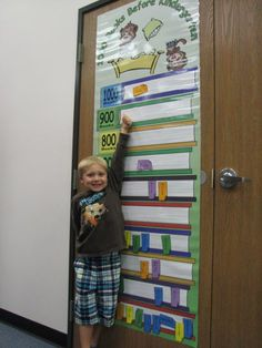 1000 Books Before Kindergarten - Chesterfield Township Library - move a marker up as a way of tracking