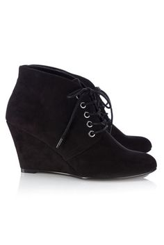 black wedge ankle boot...i want these so so sosososososo (@ t.j. Maxx size 8 ) :-( :'( :-) :-( :-