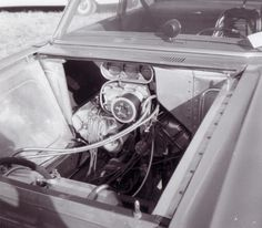 Jack Chrisman's 427 Ford SOHC cammer in his Comet.
