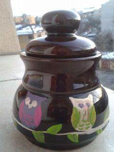 Owls on a jar Owls, Jar, Home Decor, Decoration Home, Room Decor, Owl, Home Interior Design, Tawny Owl, Jars
