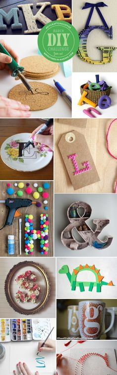 March DIY Challenge: Letters – Indie Crafts