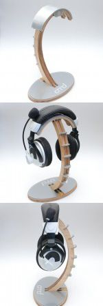 Internet Cafe Bedside Recording Studio Wooden Headphone Stand Hanger Innovative Solid Wood Headphone Stand Sturdy Holder Headset Mount Rack for Suitable for Desktop Office