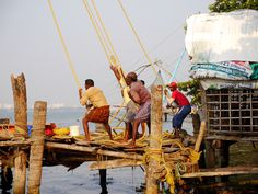 Fishing nets in Cochin