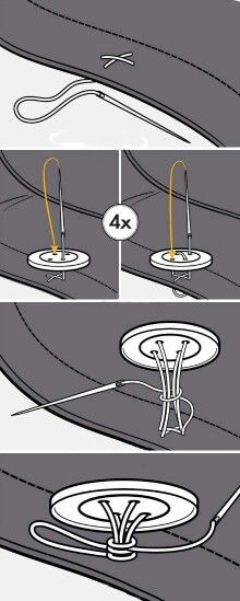 How to sew a Button. Put a button on my husband's work pants using this method (3/9/2014).