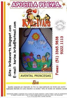 Fofuchas Eva e Cia: Molde avental princesas