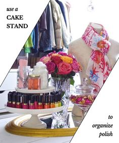 Take a Stand Against Clutter - Organize Nail Polish