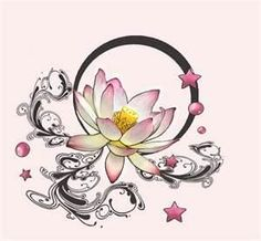 I think it would be cool for the circle connecting to the lotus was a Japanese style wave
