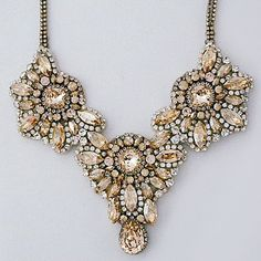 Our new Golden Shadow Crystal Statement Necklace designed by Haute Bride. Beyond gorgeous!