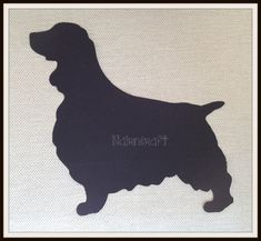 1x7 1/4 in SP1. Large English Springer Spaniel Dog, Plain Black, Wool Fabric,Cut Out,Iron On, Appliqué1 by Nairncraft on Etsy £3.50 plus p&p.
