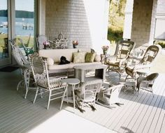 Patricia Herrera Lansing's home in Maine Beach Outdoor Space by Niven Design and Kroeger Woods Associates in Maine