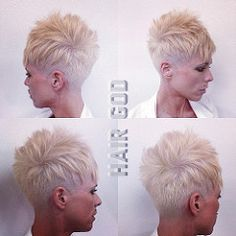 My next haircut under cut pixie Short Pixie Haircuts, Cute Hairstyles For Short Hair, Short Hair Cuts For Women, Curly Hair Styles, Super Short Hair, Short Grey Hair, Short Blonde, Sassy Hair, Great Hair