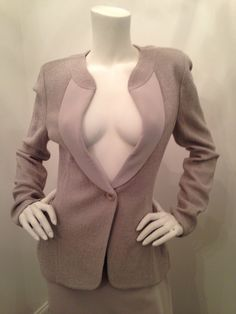 Click to shop - ST. JOHN KNIT JACKET WITH SILK TRIMMED LAPEL, SIZE 8, NEW IN BOX!