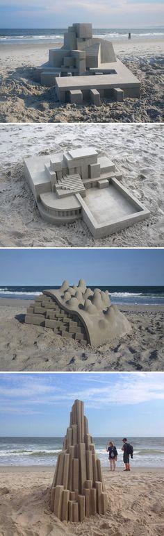 New Modernist Sandcastles Constructed by Calvin Seibert