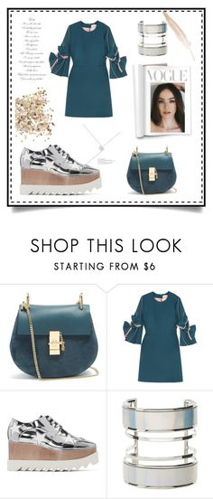 """Bright lights on my way"" by muluna ❤ liked on Polyvore featuring Chloé, Roksanda, STELLA McCARTNEY, Charlotte Russe and Topshop"