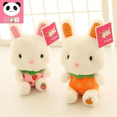 """""""Fruit Bunny"""" 1pc Cute Stuffed Animals Plush Soft Toy Cuddly Doll Kids Gift 28cm #Unbranded"""