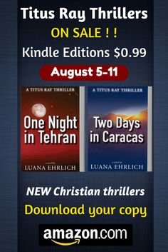 Amazon has Books 1 & 2 in the Titus Ray Thriller Series for Kindle on sale for $0.99  August 5-11, 2015.