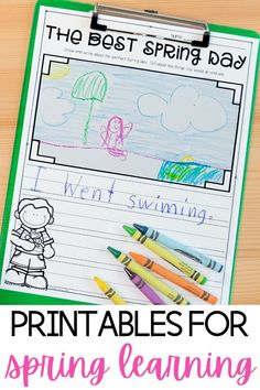 Spring Break is such a welcome break for teachers and students! But many students (and their parents) want engaging activities to complete at home! This math & literacy bundle is perfect to send home with my little ones over the break so I know that their minds are getting a little exercise. Spring Lesson Plans | Elementary Printable Worksheets | First Grade Resources