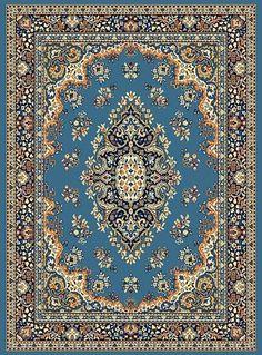 blue persian rugs
