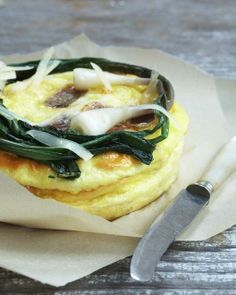 Spring Onion and Pancetta Frittata | Sweet Paul Magazine #food #recipe