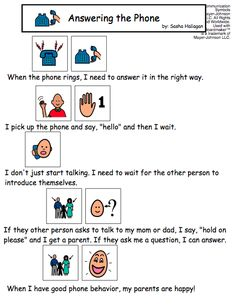 Visual Social Story - Answering the Phone