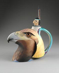 Annette Corcoran (American, b. 1930) Golden Eagle Teapot 1991 porcelain