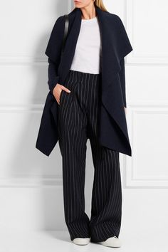 Navy wool Slips on 100% wool Dry clean Made in Italy