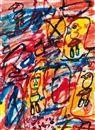 Site avec quatre personnages by Jean Dubuffet