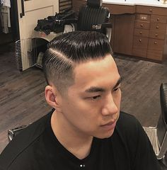 Asian Hairstyles, Slick Hairstyles, Great Haircuts, Haircuts For Men, Hair Pomade, Slicked Back Hair, Comb Over, Pompadour, Fade Haircut