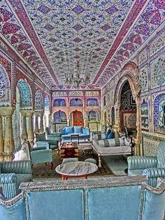 """""""Lounge"""" - Picture of Samode Palace - Tripadvisor Hindu India, Rajasthan India, Indian Architecture, Architecture Details, Indian Interior Design, Indian Interiors, North India, Indian Homes, Moorish"""