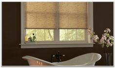 Budget Custom Window Blinds and Shades Image Gallery Windows, Clawfoot Bathtub, Blinds For Windows, Window Coverings, Custom Window Blinds, Bay Window, Shades, Blinds, Shutters