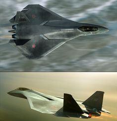 """The Sukhoi PAK-FA (Russian: Perspektivnyi Aviatsionnyi Kompleks Frontovoi Aviatsy, Перспективный авиационный комплекс фронтовой авиации, or """"prospective (promising) Aircraft System of Front line Aviation"""") is a fifth generation fighter being designed for the Russian Air Force.    As far as I am aware, no photographs or reliable specifications exist. Most art/cgi - like the stuff featured here by Aleksander Dultsev - is completely speculative, though this rendition from back in 2007 was suppo"""