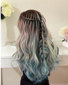 Combo Waterfall Braid + Fishtailbraid  #hair #hairstyles #haircut #hairideas #braid #braids #waterfallbraid