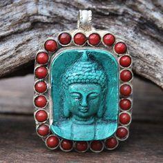 Beautiful Buddha pendant from Nepal - look4treasures on Etsy, $23.95