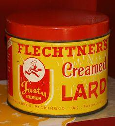 Vintage Tin ~ creamed lard