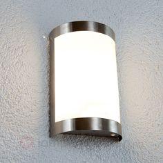 60w Vegglampe i rustfritt stål sicher & bequem online bestellen bei Lampenwelt.de. Wall Lights, Sconces, Sandblasted Glass, Lamp, Outdoor Lamp, Lamp Light, Wall, Lights, Wall Lamp