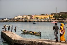 Port of Goree island Senegal