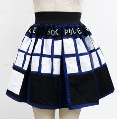 Dr Who Inspired Full Skirt