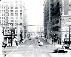 Looking East on 7th Street at Figueroa circa 1950