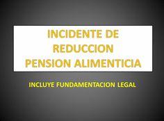 INCIDENTE DE REDUCCION PENSION ALIMENTICIA